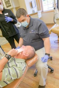 Dr. Clauss and an adult orthodontic patient
